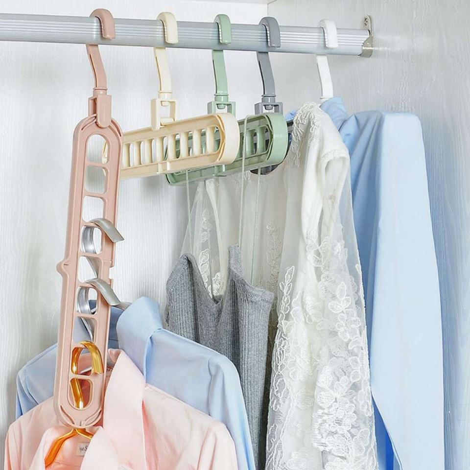 móc quần áo nhựa 9 ô