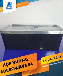 Hộp Nhựa Vuông Microwave